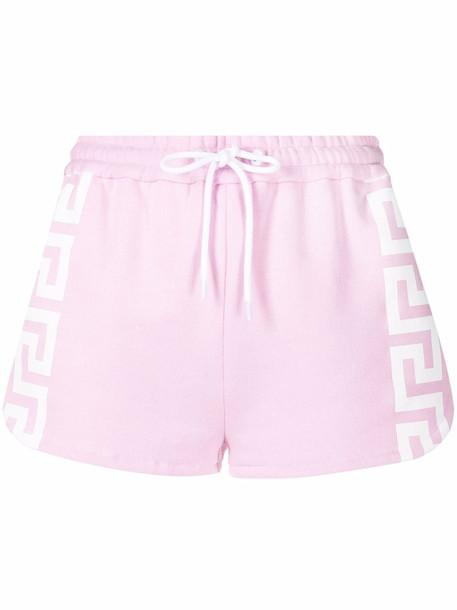 Versace Greca track shorts - Pink