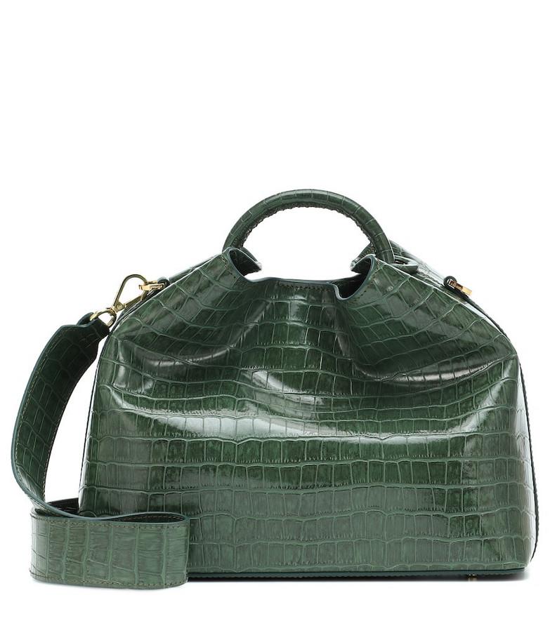 Elleme Raisin croc-effect shoulder bag in green
