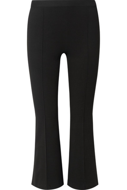 Rosetta Getty - Cropped Stretch-jersey Flared Pants - Black