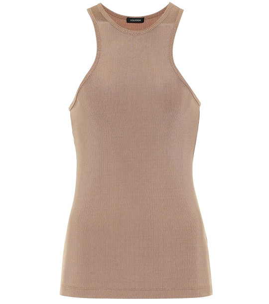 Goldsign The Rib jersey tank top in beige