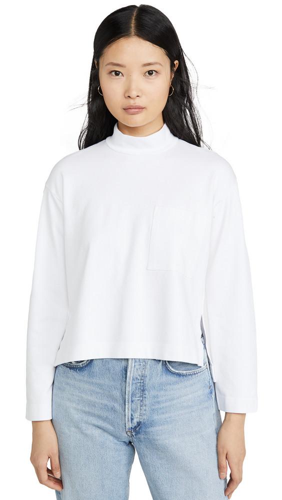 Stateside Mock Sweatshirt in white