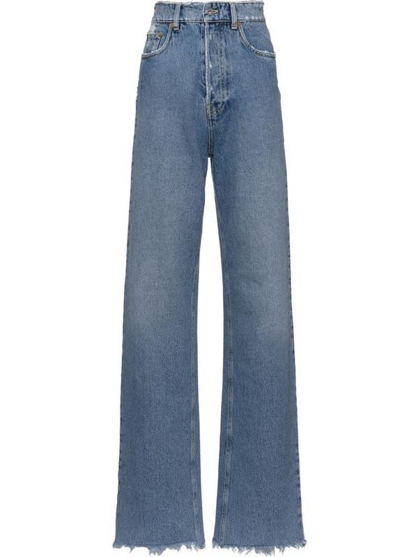 Miu Miu Club distressed jeans in blue