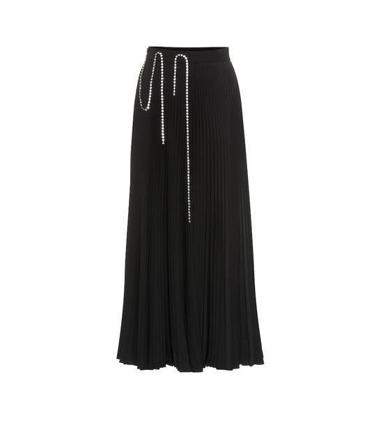 Christopher Kane Embellished pleated midi skirt in black