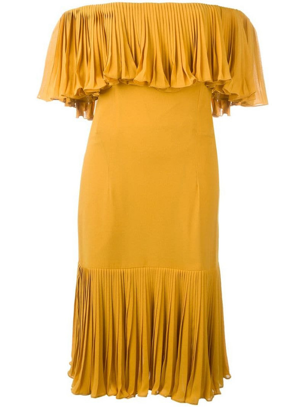 Jean Louis Scherrer Pre-Owned off the shoulder dress in yellow