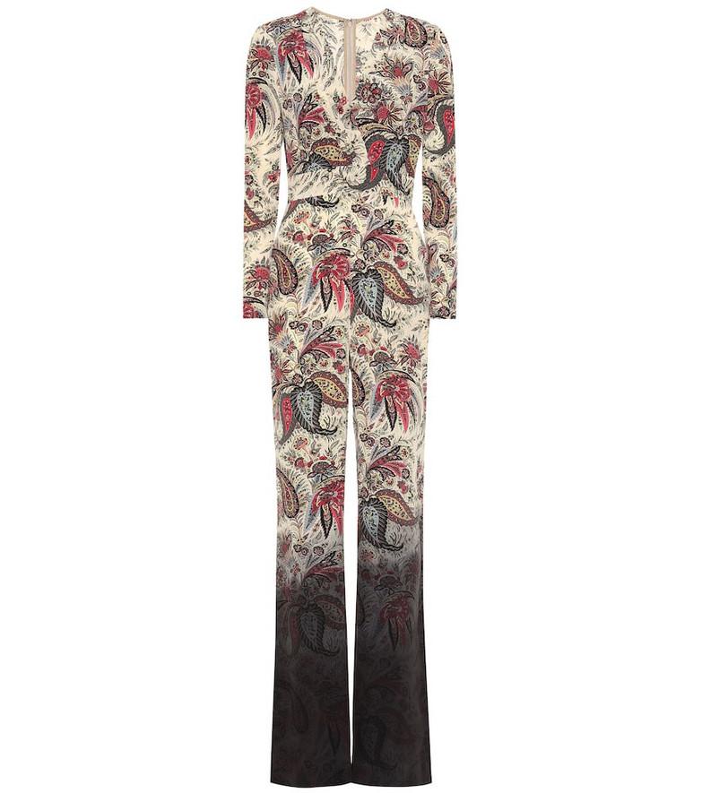 Etro Printed silk jumpsuit