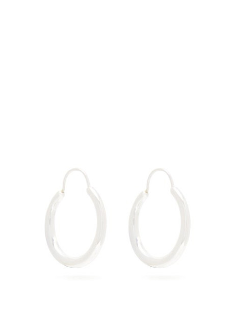 All Blues - Hungry Snake Sterling Silver Hoop Earrings - Womens - Silver