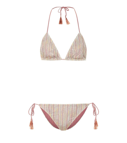 Missoni Mare Striped metallic knit bikini