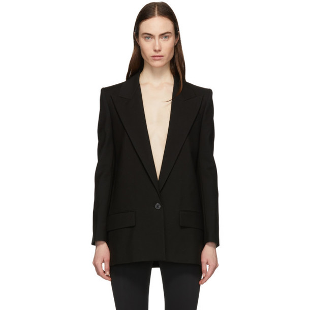 Givenchy Black Mohair Single-Breasted Blazer