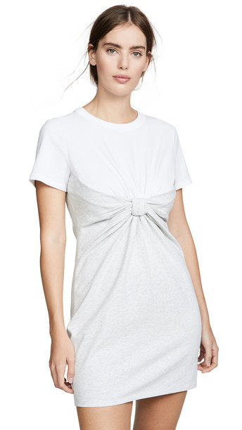 alexanderwang.t High Twist Knot Dress in grey / white