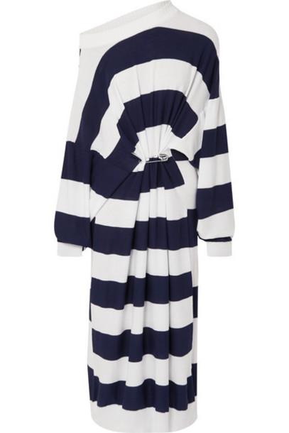 Sonia Rykiel - Oversized Striped Cotton And Wool-blend Maxi Dress - White