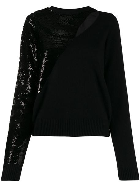 RtA sequin-embellished jumper in black