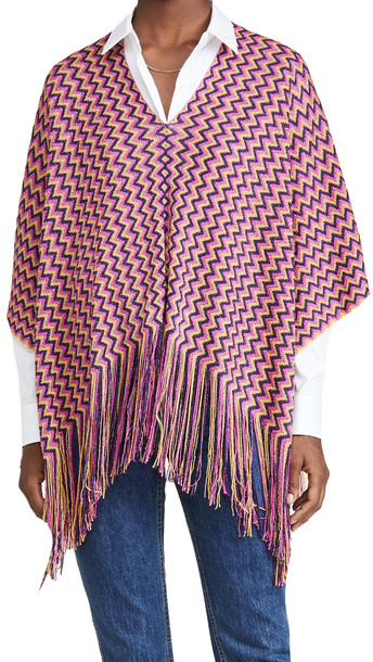 Missoni Missoni Short Poncho in purple / yellow / multi