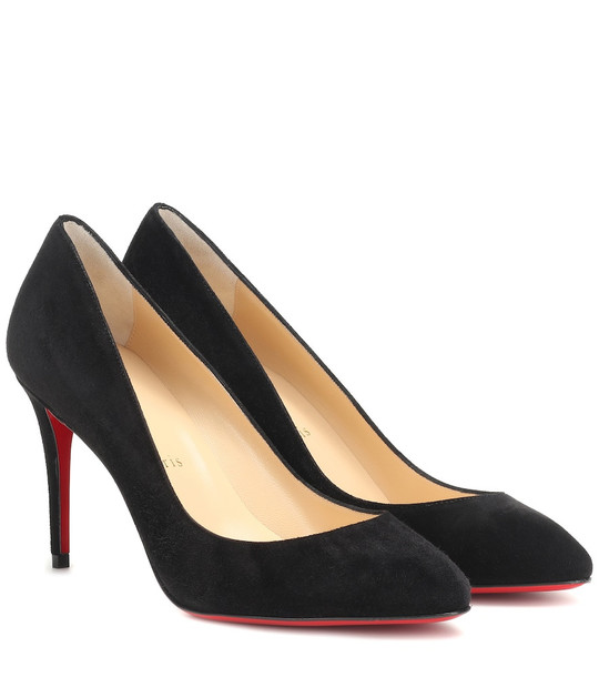 Christian Louboutin Eloise 85 suede pumps in black