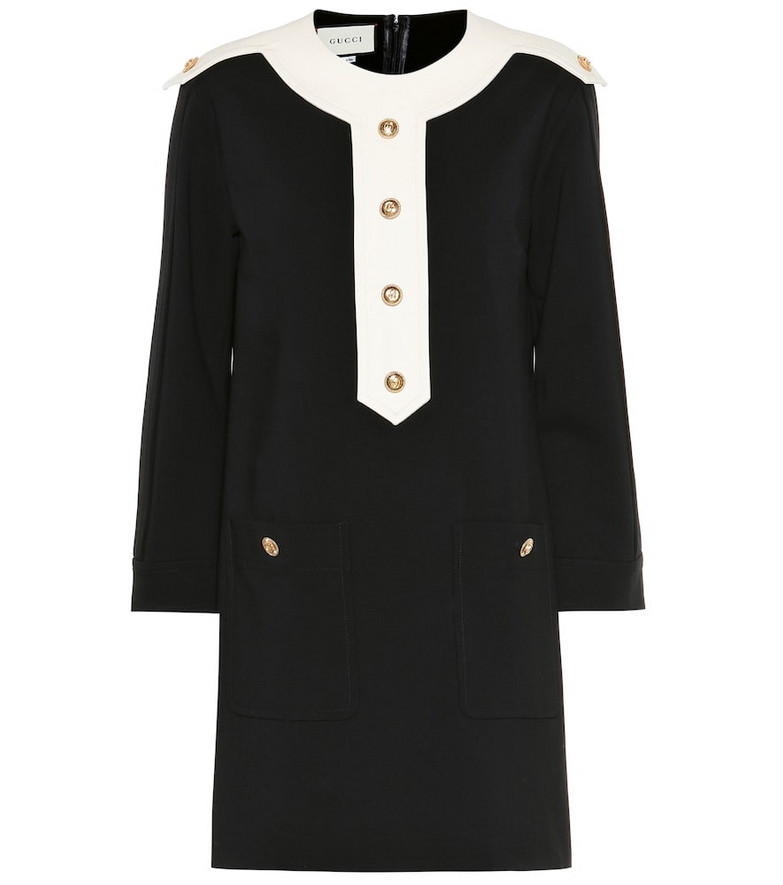 Gucci Embellished jersey dress in black