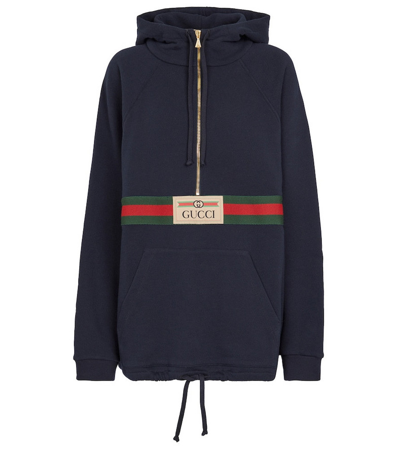 Gucci Cotton jersey hoodie in blue