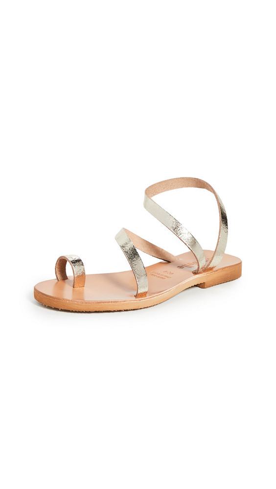 Cocobelle Crescent Strappy Sandals in gold