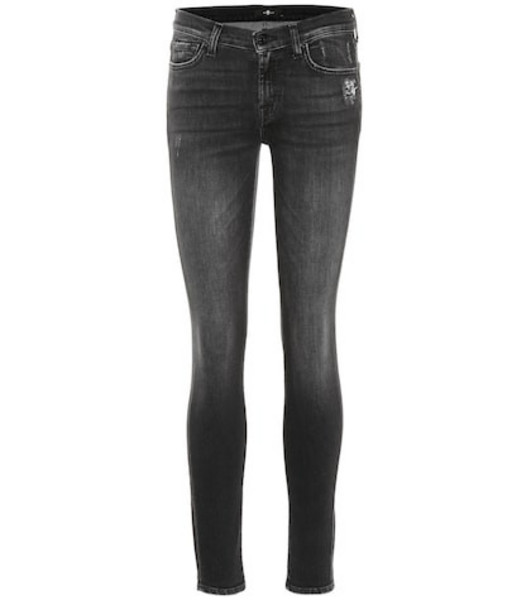 7 For All Mankind The Skinny mid-rise jeans in blue
