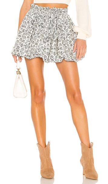 LoveShackFancy Cheyenne Skirt in White