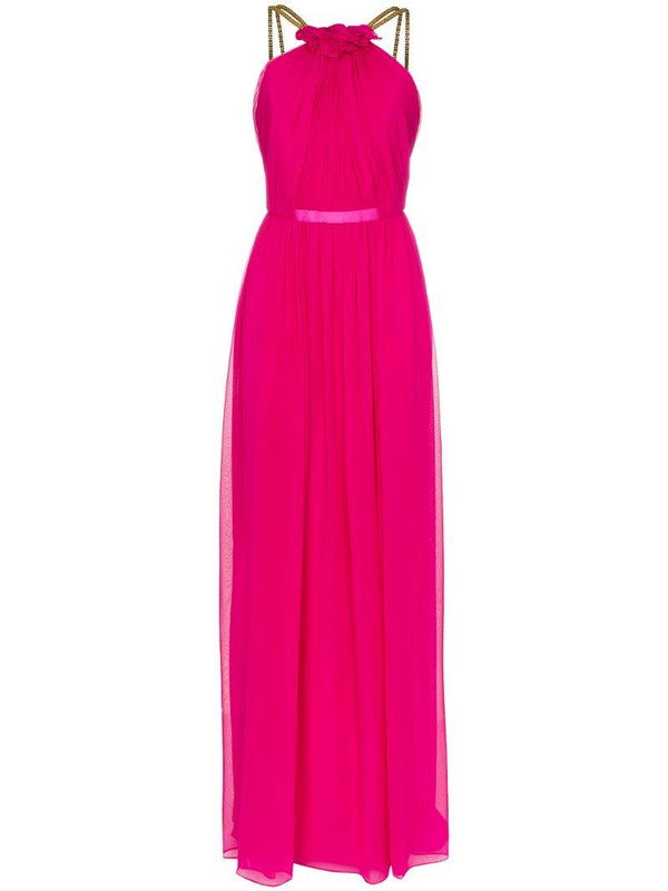 Haney Emeline chain strap maxi dress in pink