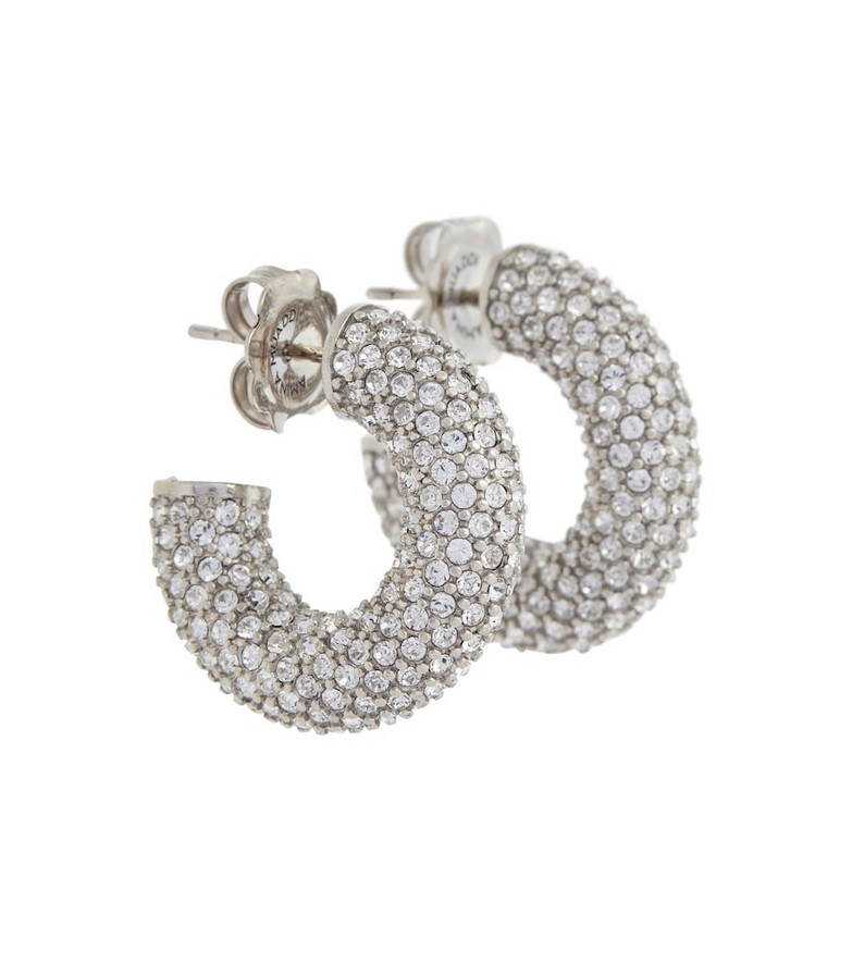 Amina Muaddi Cameron Mini embellished earrings in silver