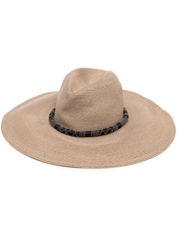 Brunello Cucinelli woven sun hat in neutrals