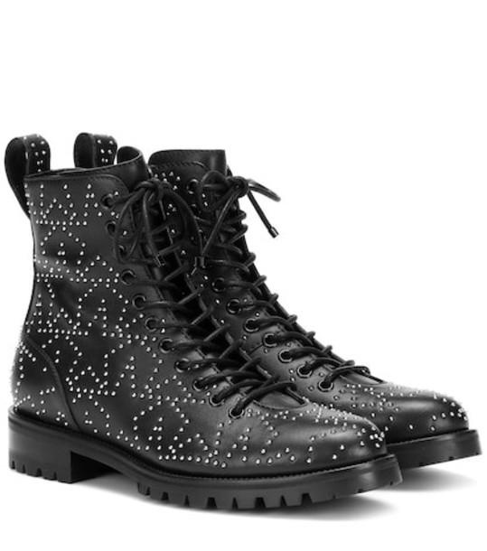 Jimmy Choo Cruz Flat leather ankle boots in black