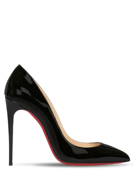 CHRISTIAN LOUBOUTIN 100mm Pigalle Follies Patent Pumps in black