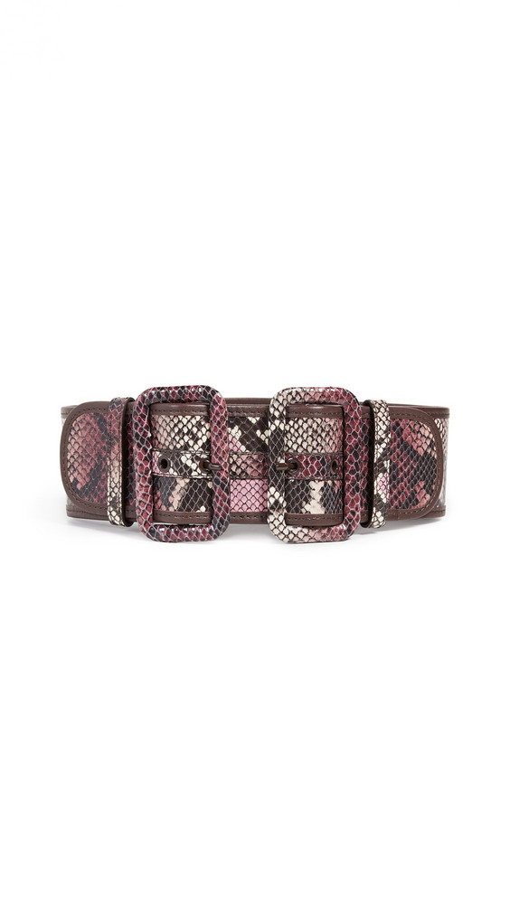 Zimmermann Double Buckle Belt in burgundy