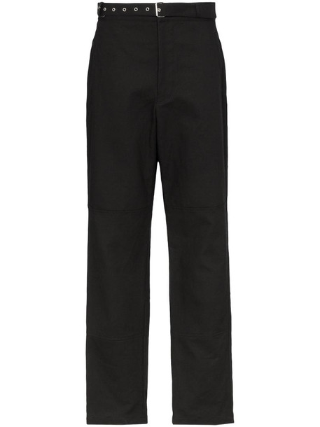 AMBUSH chino straight leg trousers in black