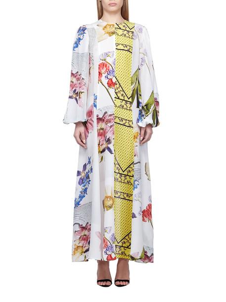 Ganni Printed Dress in bianco