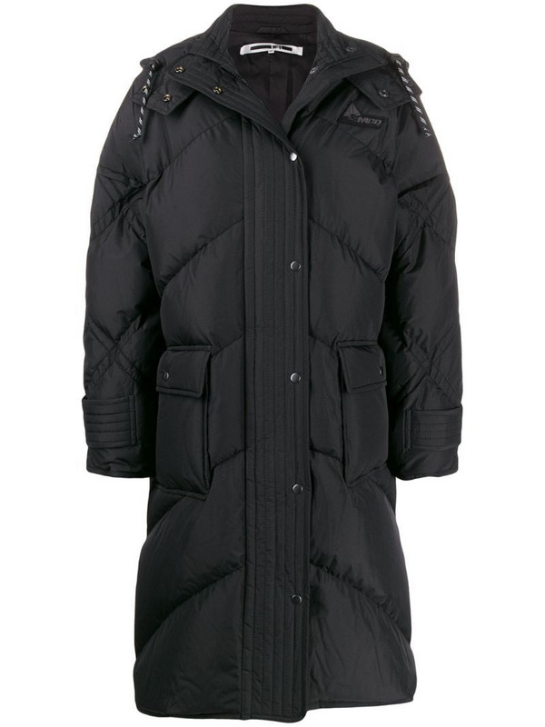 McQ Swallow padded hooded coat in white