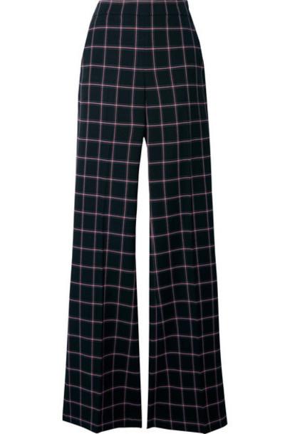 Rebecca Vallance - Peta Checked Woven Flared Pants - Black