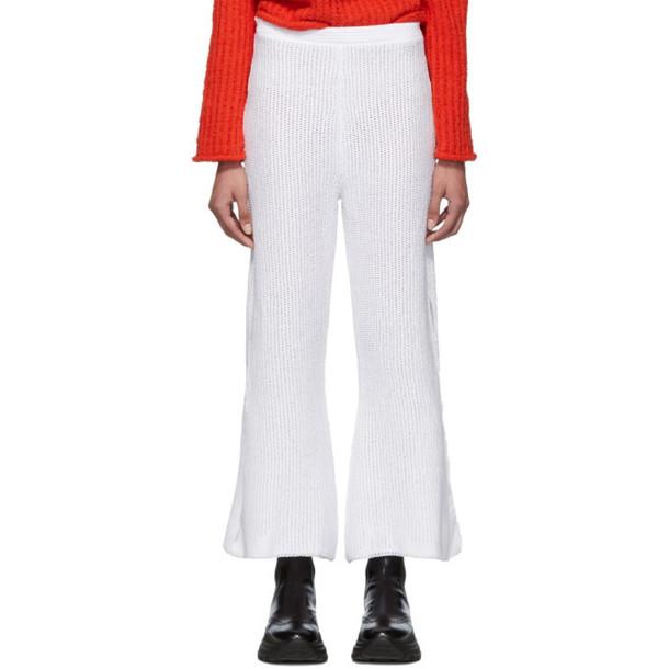 Eckhaus Latta White Scallop Lounge Pants