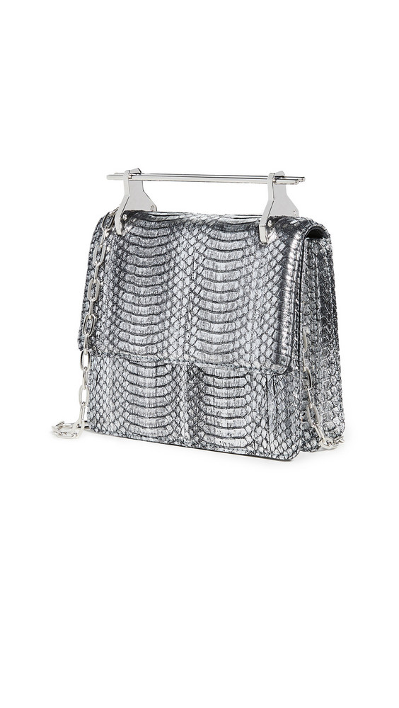 M2MALLETIER Mini Collectionneuse Bag in silver