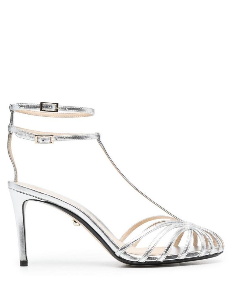 Alevì Alevì Anna cage-strap sandals - Silver