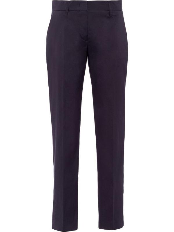 Prada stretch slim-fit trousers in blue