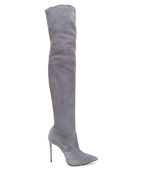 Le Silla Eva 120mm thigh-high boots in grey