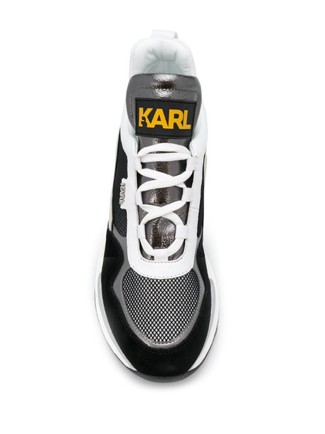 Karl Lagerfeld Ventura Lazare mid-top sneakers in grey