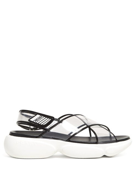 Prada - Cloudbust Sole Plexi Sandals - Womens - Black Multi