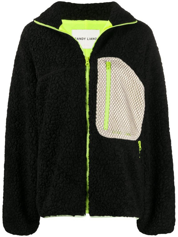 Sandy Liang oversized zipped cardigan in black