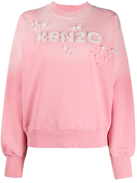 Kenzo embellished logo sweatshirt in pink