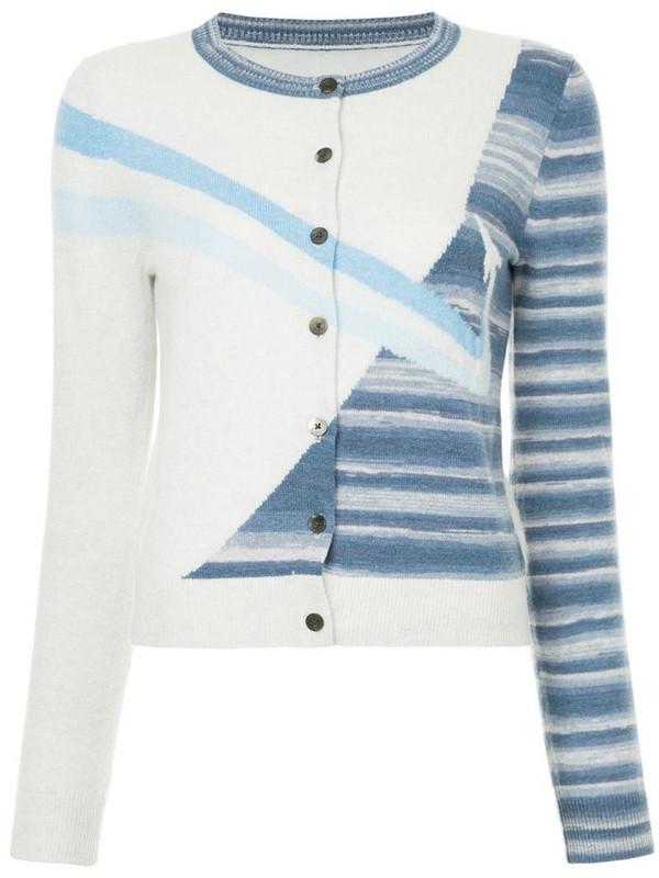 Onefifteen striped rocket cardigan in grey