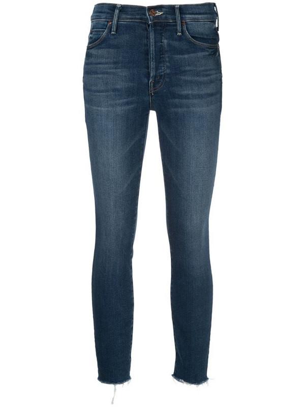 Mother slim fit denim jeans in blue