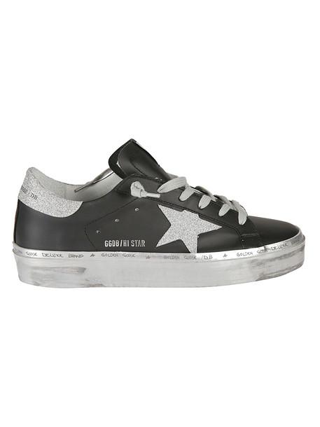 Golden Goose Hi-star Sneakers in black / silver