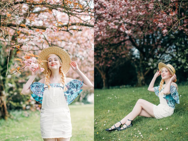 the clothes blogger hat top dress