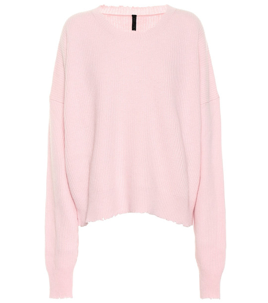 Unravel Wool and cashmere sweater in pink