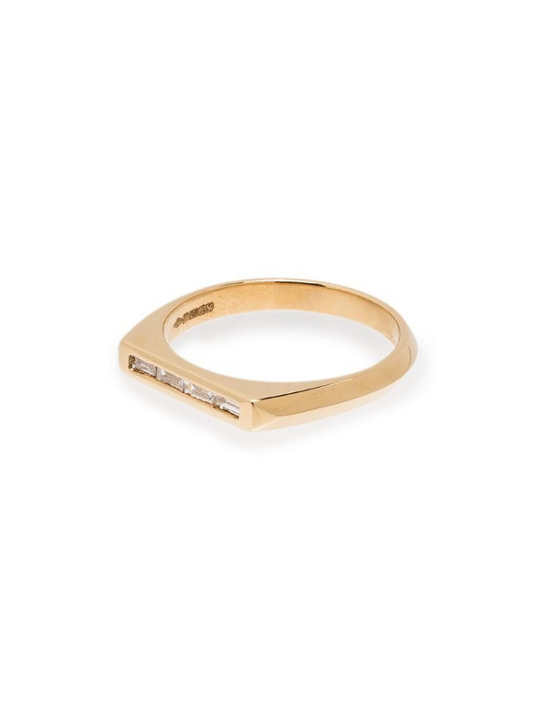 Lizzie Mandler Fine Jewelry 18kt yellow gold Knife Edge diamond ring