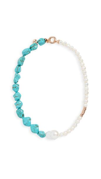 Maison Irem Turquoise Pearl Manic Necklace