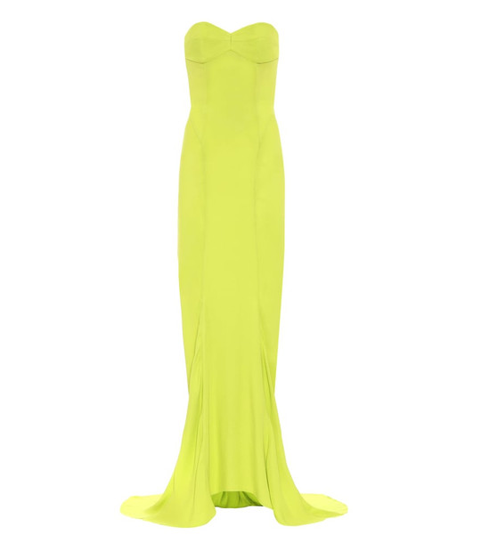 The Attico Bustier gown in green