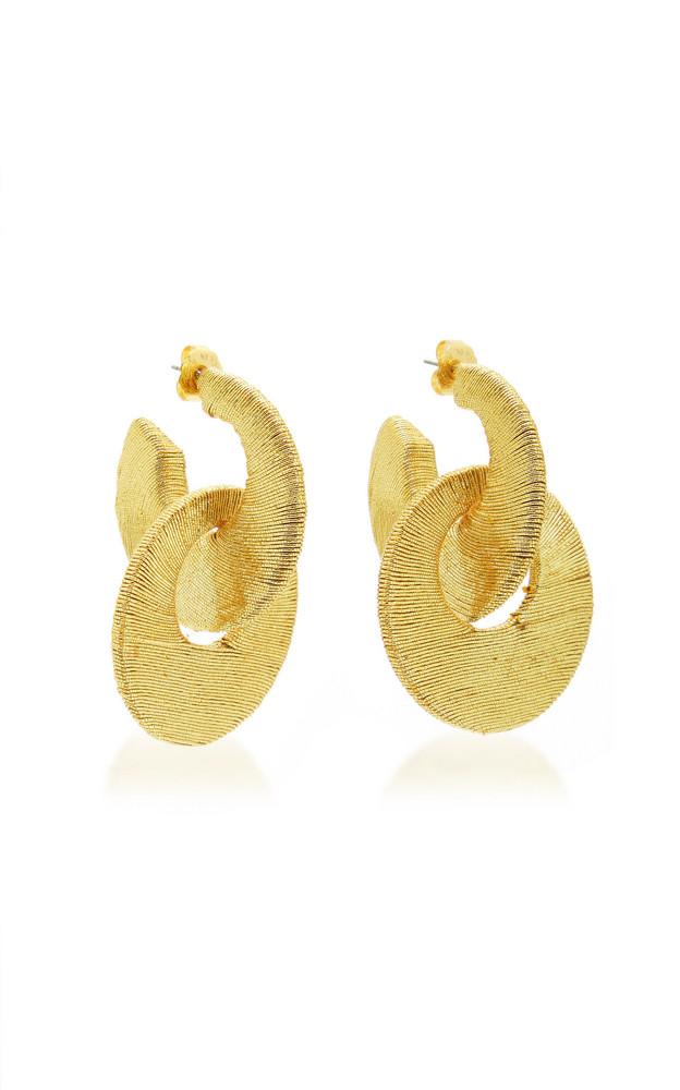 Rebecca de Ravenel Carmen Cord Hoop Earrings in yellow